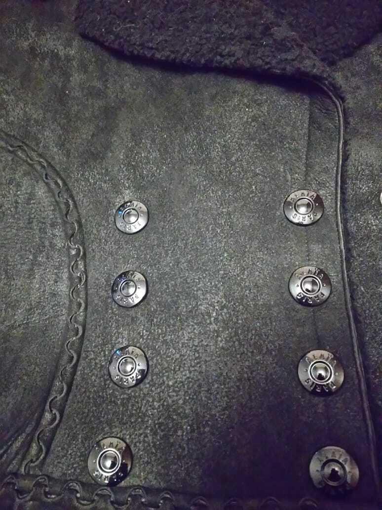 Alaia black  suede-Leather Shearling Princess Ple… - image 6