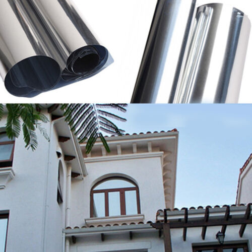 One Way Mirror Window Film Solar Tint Reflection Decorative Heat Privacy Control