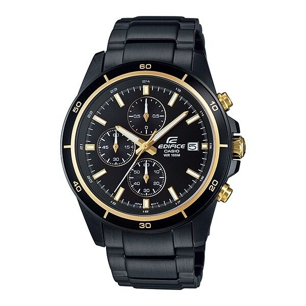 32953861f48 Efr-526bk-1a9 Black Gold Men s Watches Casio Edifice Chronograph 100m for  sale online