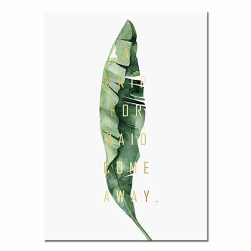 Wall Art Canvas Painting Posters and Prints Green Style Plant Nordic Decoratives