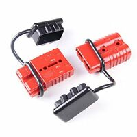2-4 Gauge Driver Battery Quick Connect Plug Kit Recovery Winch Trailer 350 Amps,