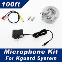 100ft Kguard Surveillance Security System Microphone Kit - All Of Kguard Systems