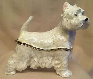 Juliana Geschätzt Schmuckkästchen Westie West Highland Terrier Hund 15389