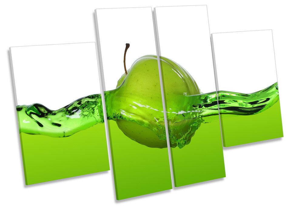 Green Apple Jugo Marco Cocina Lona Pared Arte Marco Jugo de Caja de impresión de panel de múltiples 069cd8