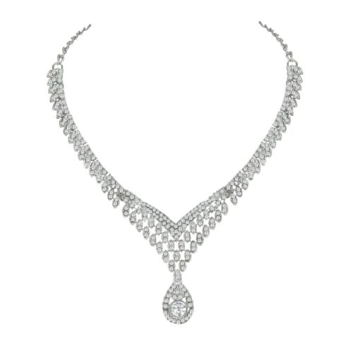 Indian Bollywood Fashion Mariage ton argent Collier Party Costume Jewelry Set