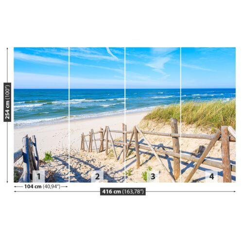 Photo papier peint murale non-tissée Chemin vers la plage