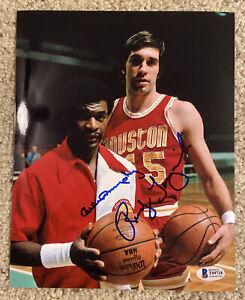 CALVIN MURPHY RUDY TOMJANOVICH Signed 8x10 Basketball Photo Beckett BAS T09718