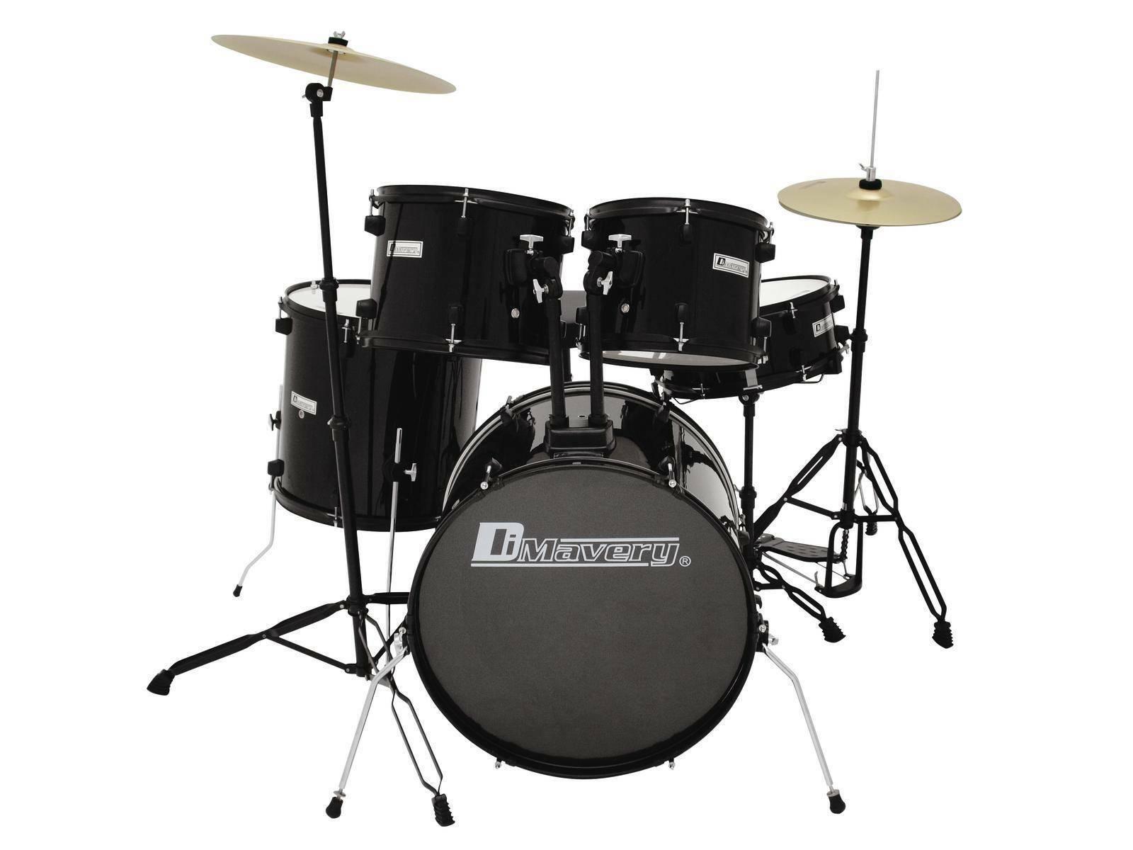 Schlagzeug-Set schwarz KNIGHT, schwarz - Schlagzeug Komplettset   Drumset