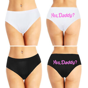 7412e6bef82c Yes Daddy Letter Print Sexy Women's Lingerie G-string Briefs ...