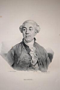 JACQUES NECKER Portrait LITHOGRAPHIE Gravure Delpech Infolio 1832 - France - Période: XIXme et avant Type: Lithographie - France