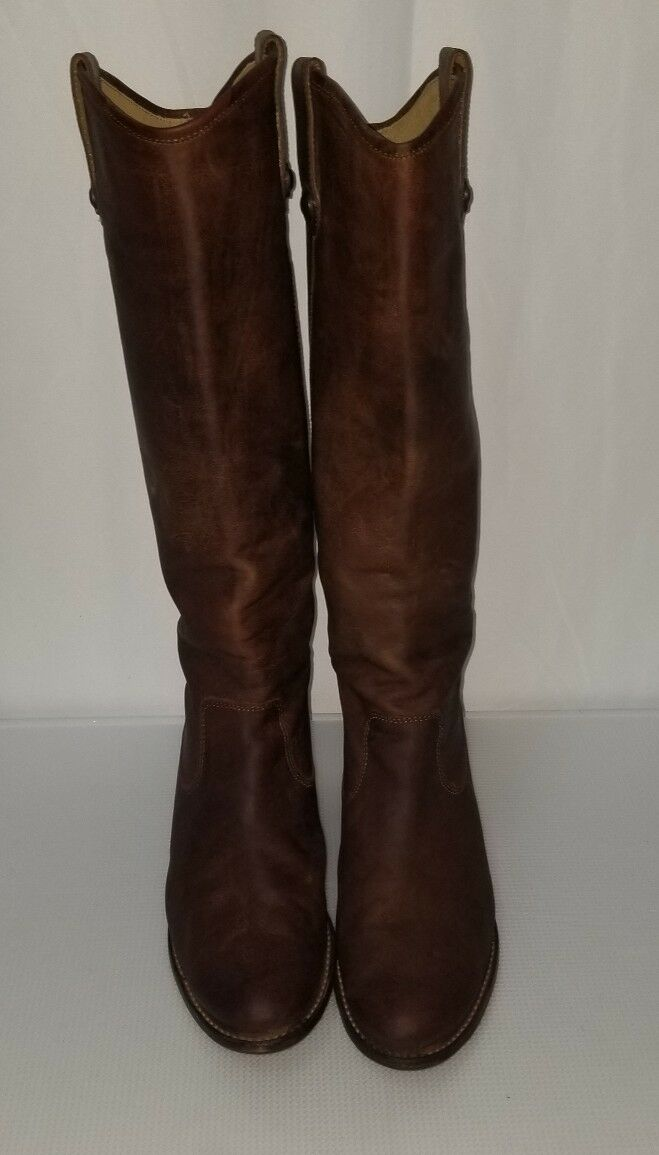 Frye Women's Melissa Brown Leather Riding Boots Size 10