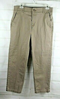 Mens Lee Pants Khaki Flat Front  Assorted Sizes