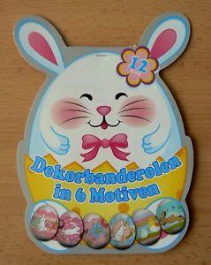 Banderolen Osterei 12 St Schrumpffolie Folie Ei Eier Ostern Hasen
