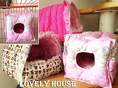 Hammock for Rabbit/Guinea Pig/Ferret/Small Animals Hanging Bed Toy House Cage