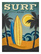 Surf Malibu Renee Pulve New York People Vintage Americana Print Poster 18x24