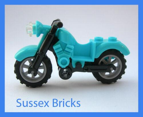 Lego Medium Azure Blue Vintage Motorbike Motorcycle Bike City Brand New Pieces