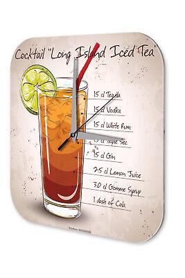 Affidabile Orologio Da Parete Bar Party Decorazione Parete Long Island Ice Tea Dekouhr Retrò-