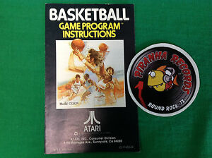 Basketball-Atari-INSTRUCTION-BOOKLET-ONLY-Piranha-Records