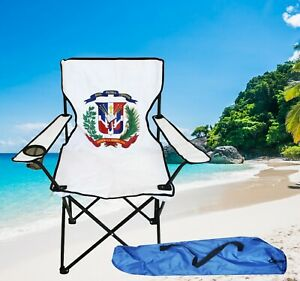 Folding Beach Camping Chair With Carrying Bag And Cup