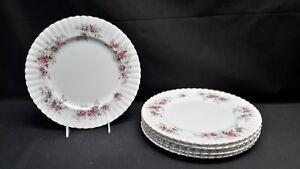 Royal-Albert-England-Bone-China-Lavender-Rose-Set-of-6-Dinner-Plates
