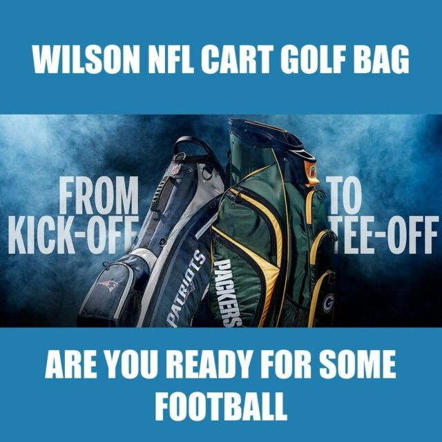 bccf4298 New Wilson NFL Cart Golf Bag - Pick Your Team