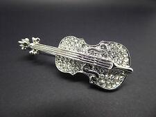 Gorgeous Rhinestone Violin Brooch,Beautiful,Gift Idea,Jewellery,Fashion,Music
