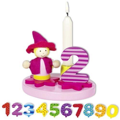 Geburtstags Aufsteller Set mit Holzfigur Kindergeburtstag Mädchen Zahlen 12tlg