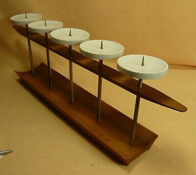 Interessanter Kerzenständer - 60er Daänemark - Teak - Porzellan #15671 GroßE Auswahl;