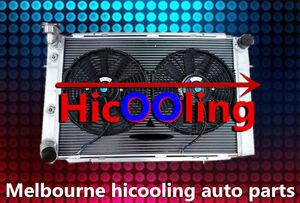 Aluminum-Radiator-amp-Fans-HOLDEN-WB-STATESMAN-UTE-SEDAN-253-amp-308-V8-1980-1984