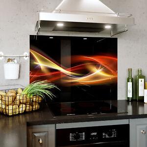 Vetro-Splashback-Cucina-Fornello-ASTRAZIONE-ARTE-GRAFICA-ONDE-qualsiasi-taglia-0476