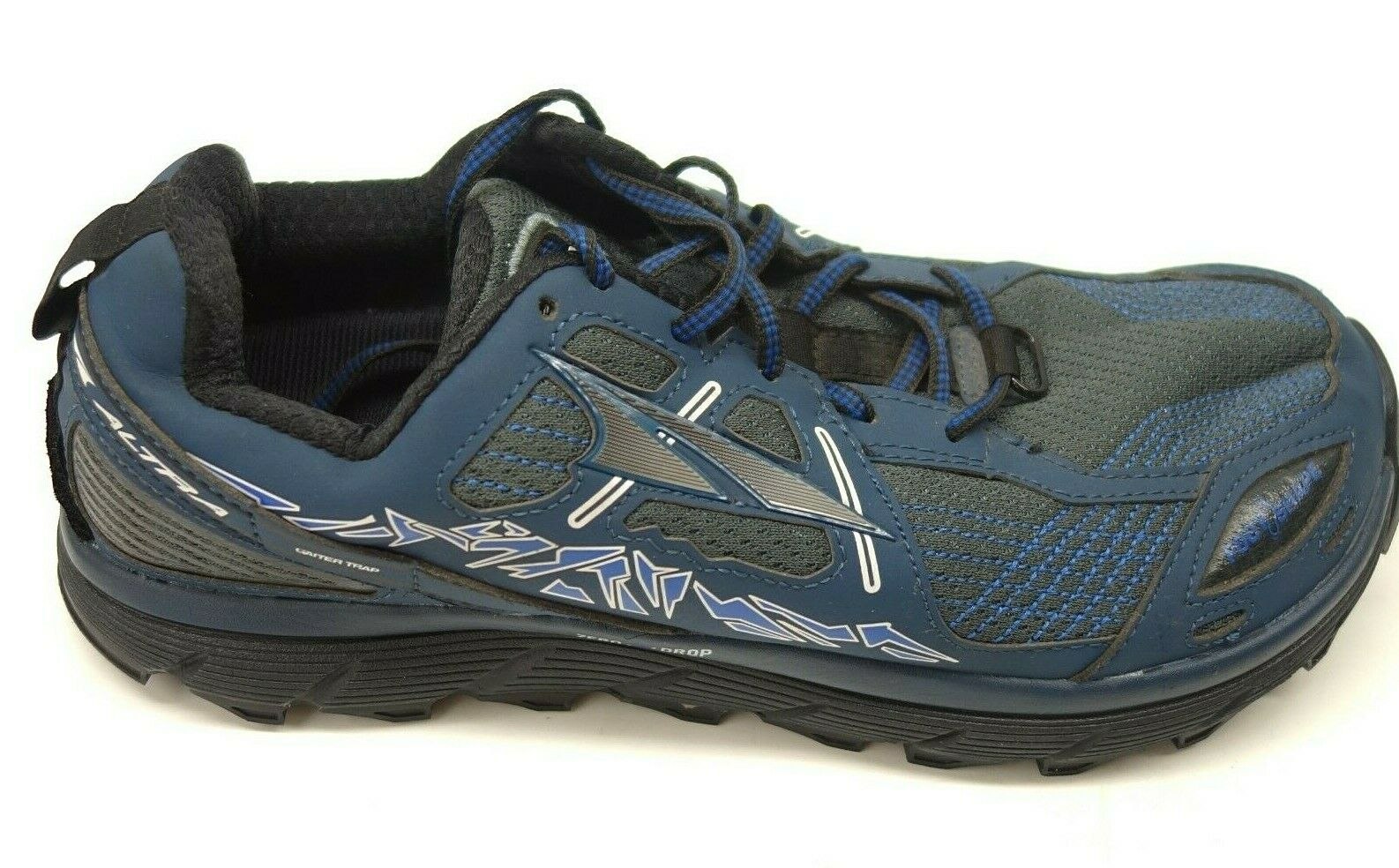 Altra Mens Sz 8.5 Lone Peak 3.5 bluee Mesh Athletic Support Trail-Running shoes