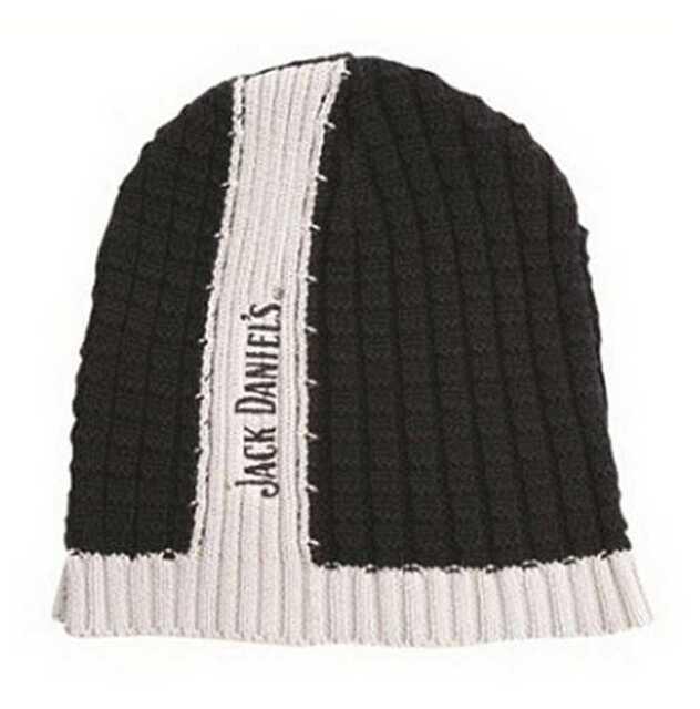 c5dc35517b6 Jack Daniels Men s Center Stripe Skull Winter Beanie Hat OSFM Jd77 ...