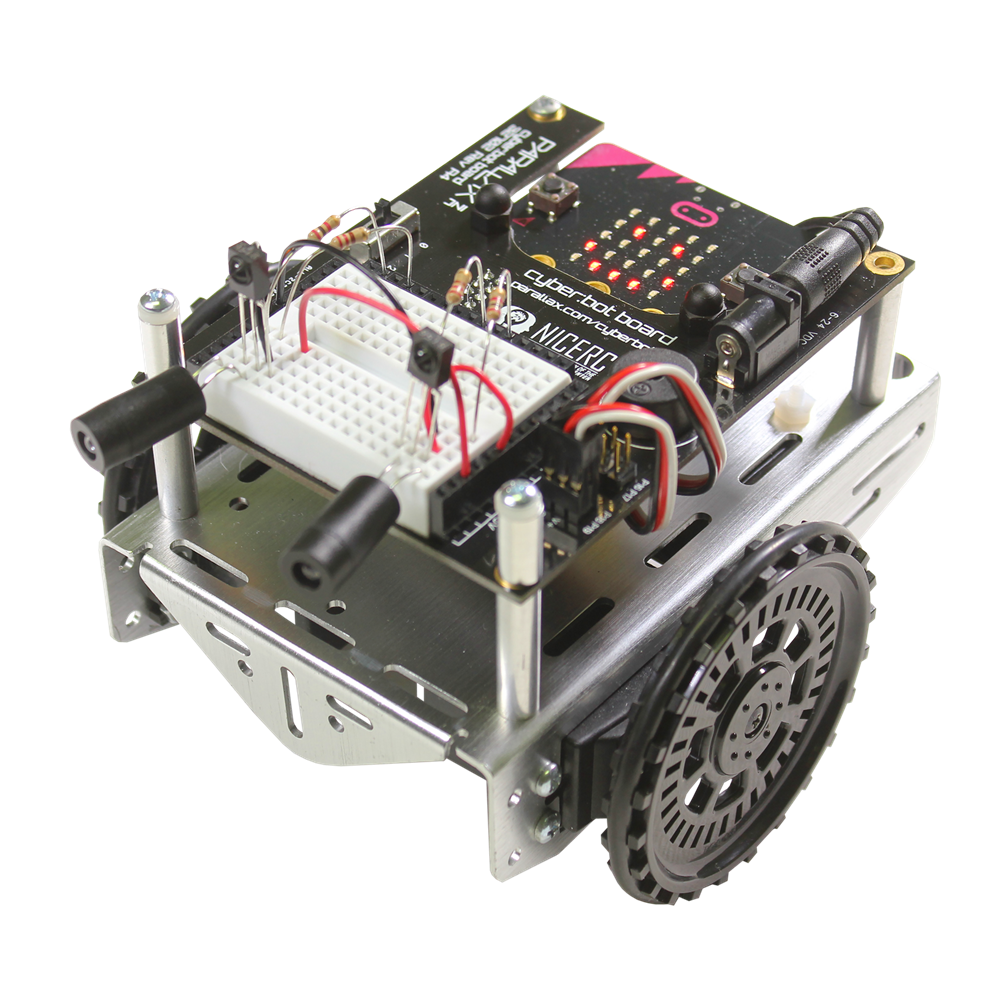 PARALLAX 32700 CYBERBOT CYBERBOT CYBERBOT Robot Kit - with micro bit (Assembly Required) 69aa96