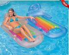 NEW Intex Inflatable Lounge Float Swimming Pool Floating Lounger Drink Holder