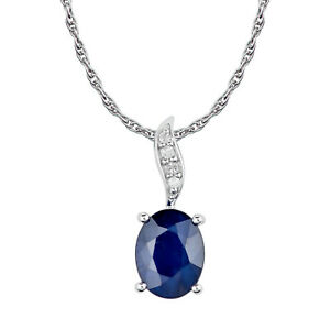 10k-White-Gold-Genuine-Oval-1-50ct-Sapphire-and-Diamond-Pendant-Necklace