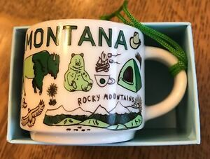 2018 Starbucks Mini Espresso Mug MT Montana Been There Series 2oz Ornament