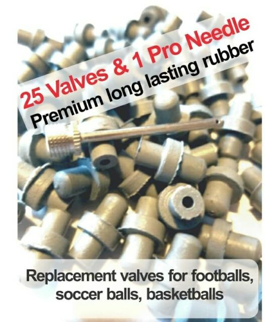 25 Replacement valves for flat football,basketball Soccer Ball Repair volley+