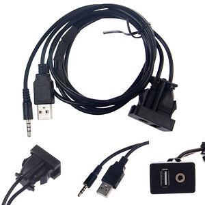 usb aux auto einbau buchse klinke adapter kabel. Black Bedroom Furniture Sets. Home Design Ideas