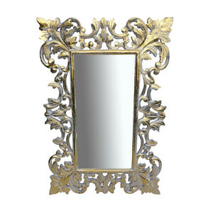 White-Gold-Antique-Style-Wood-Mirror