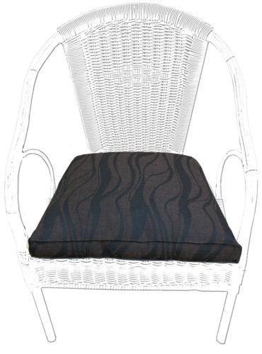 waschbar Sitzkissen,Stuhlkissen 4èr Reißverschluss beige braun grau 1er