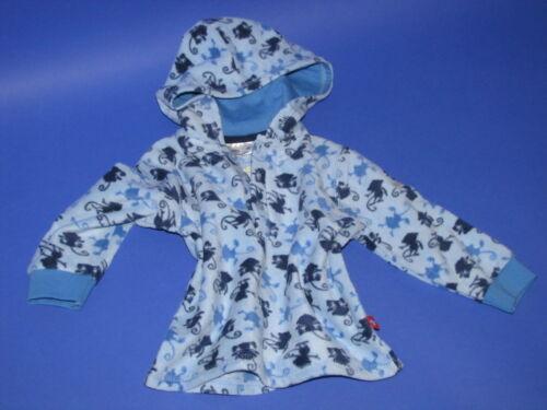 blau Jungen Fleece Pulli Kapuzenpulli Pullover Gr 74 6-9 Mon oder 80 9-12 Mon