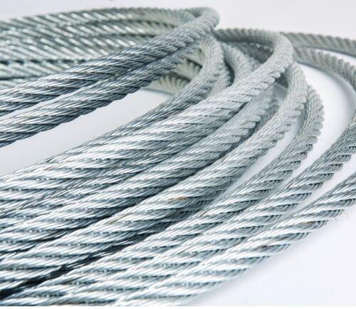 Profi Drahtseil in Industriequalität Stahlseil Edelstahl 1,2,3,4,5,6,10,11 mm m