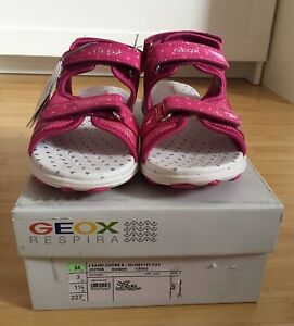 Details zu Geox Sandalen Schuhe Sommer Gr. 34 Mädchen pink Neu