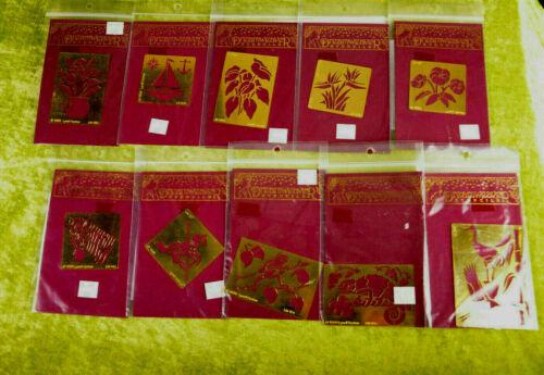Dreamweaver Stensil Embossing Template FLOWERS ANIMAL Scrapbooks You Choose NEW