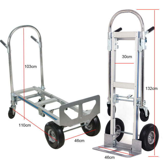 542f2e27216e Aluminum Folding Hand Truck 3 in 1 Convertible1000lbs Capacity Industrial  Cart