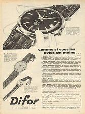Publicité Advertising 1960  Montre Difor automatic