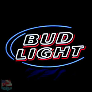 Image Is Loading BUD Light Budweiser Red Neon Sign 20 034