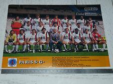 CLIPPING POSTER FOOTBALL 1984-1985 PARIS SAINT-GERMAIN PSG PARC-DES-PRINCES