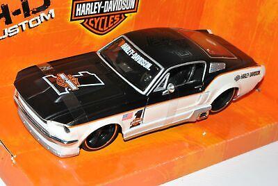 FORD Mustang GT 1967 Nero Bianco Nr 1 COUPE HARLEY DAVIDSON 1//24 Maisto moda...