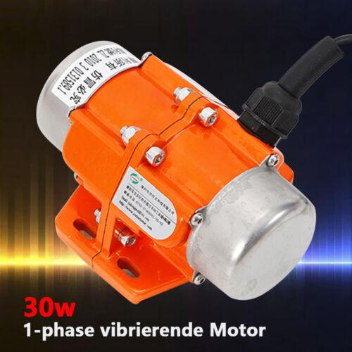 30W 220V 1 Phasen Asynchron Vibrationsmotor Elektro Vibrierend Motor 3000RPM Dhl